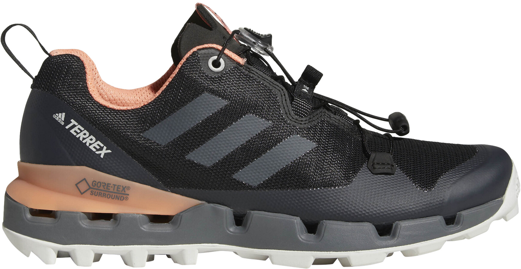 2d3f49ba77f adidas TERREX Fast GTX-Surround Shoes Women core black/grey five/chalk coral
